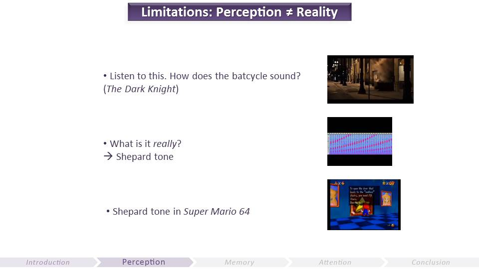 Limitations in Perception | Video Game UX