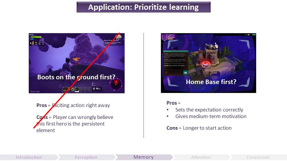 Prioritize Learning | Video Game UX