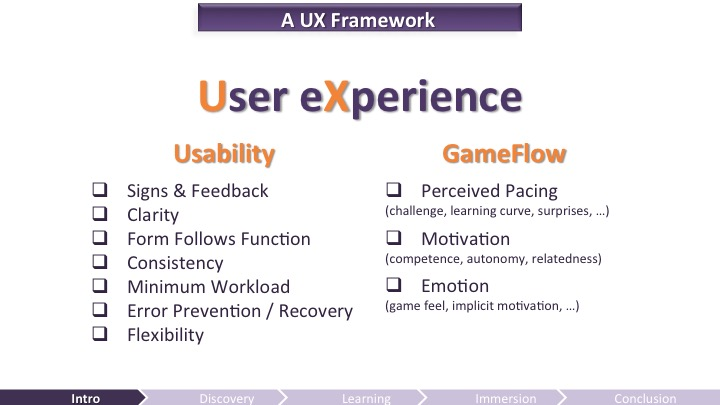 A UX Framework