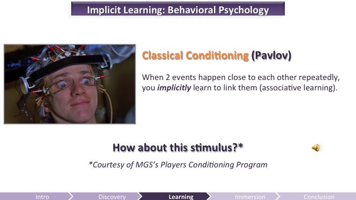 Implicit Learning - Behavioral Psychology | Game UX