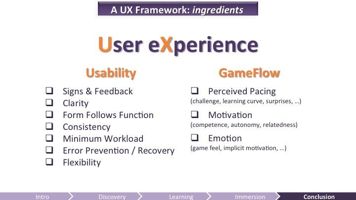 UX Framework Ingredients