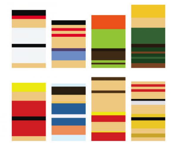 Street Fighter II characters as minimalized by artist Ashley Browning