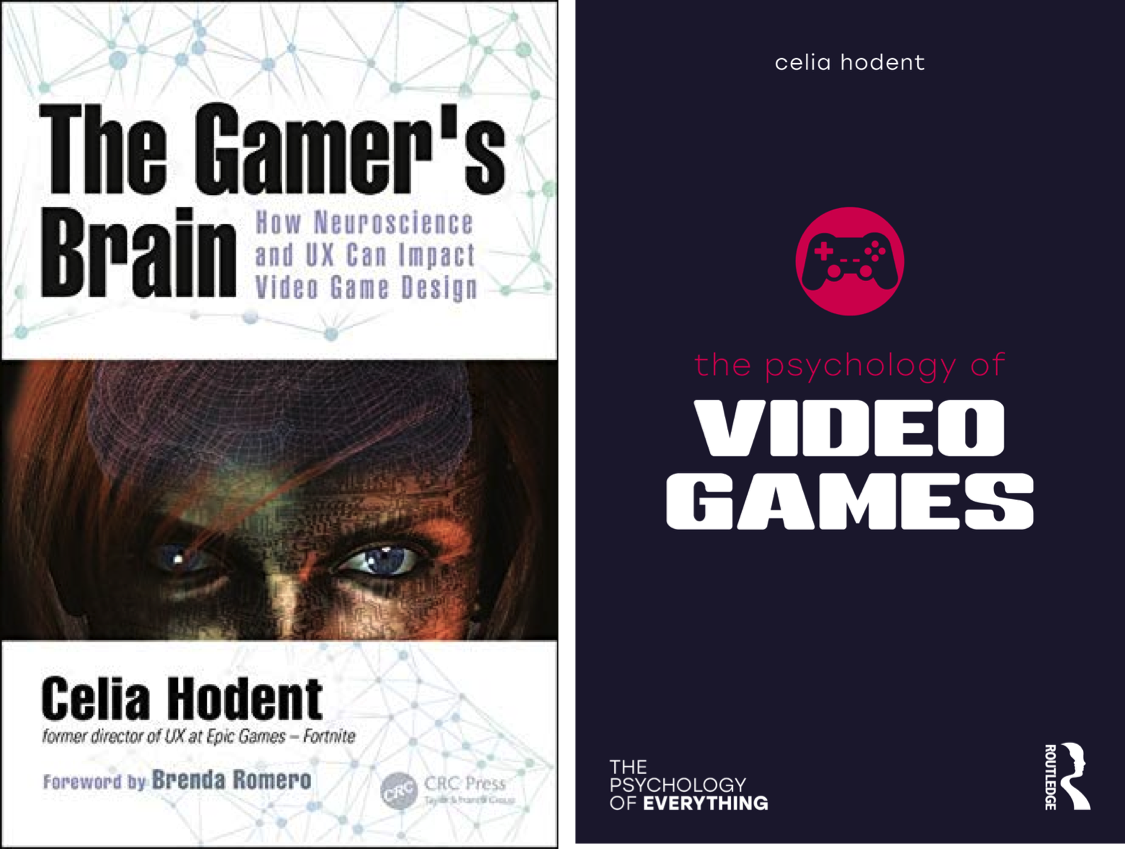 Books The Gamer's Brain & The Psychology of Video Games, by Celia Hodent